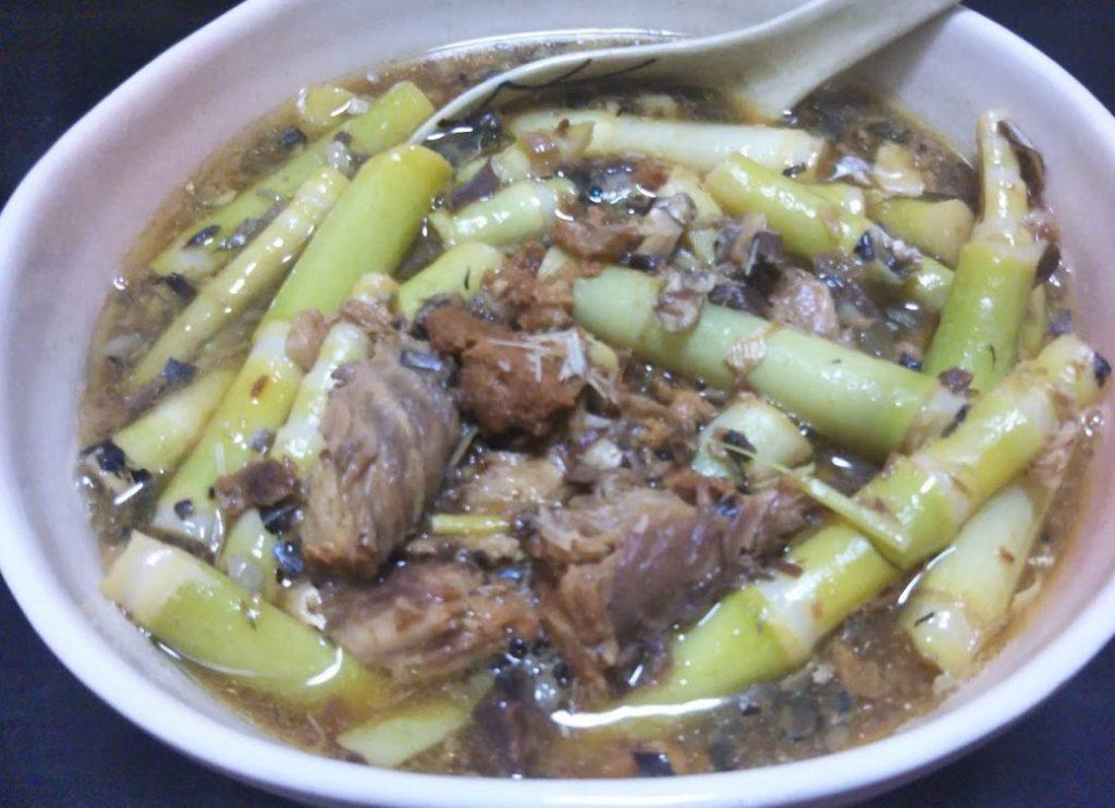 ヒメタケ(マガリタケ)のサバ缶煮
